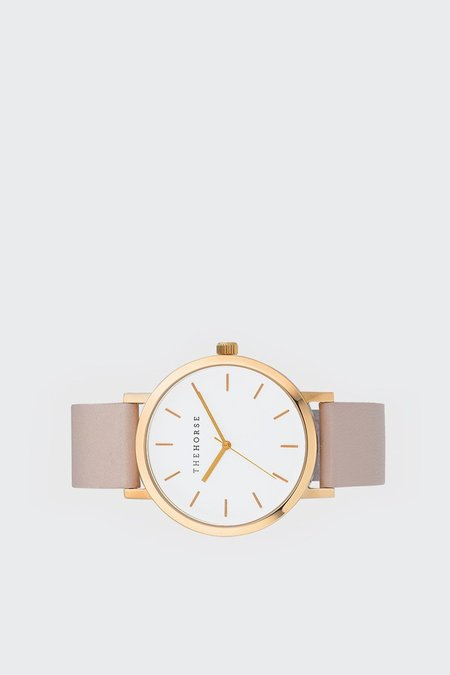 The Horse Original Watch - polished rose gold/blush leather