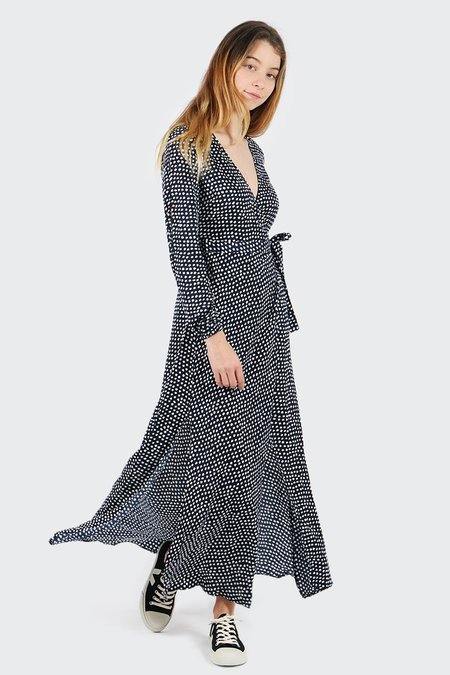 The Fifth Party Next Door Long Sleeve Dress - painted polka