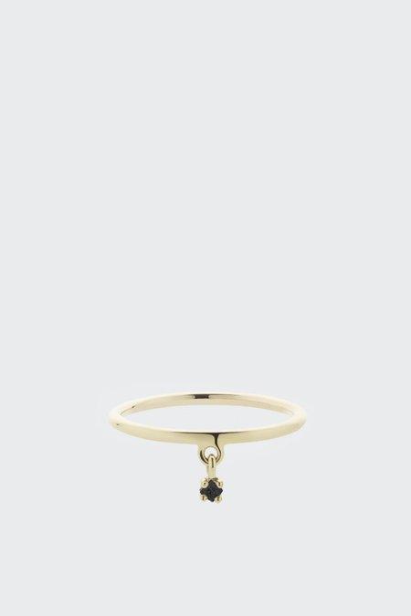 Meadowlark Stella Charm Ring - Gold with Black Diamond