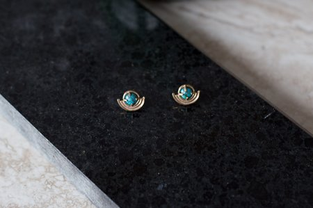 Lumafina Cetus Earrings Bronze (Turquoise)