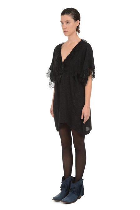 Lindsey Thornburg Black Scalloped Lace Dress