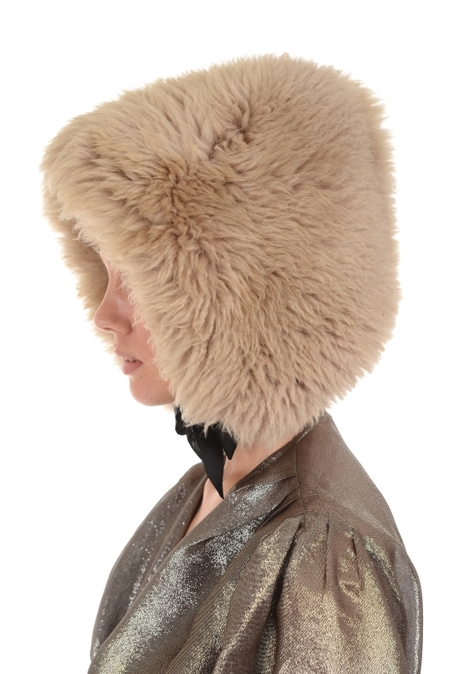 Lindsey Thornburg Cream Shearling Bonnet