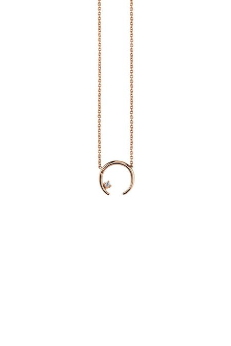 Gabriela Artigas Diamond on Mini Rising Necklace