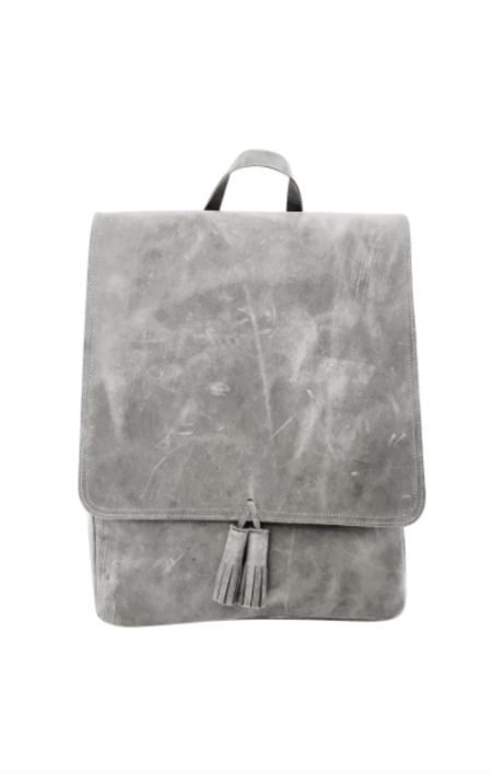 Sunday Supply Co. All Leather Rucksack - Grey