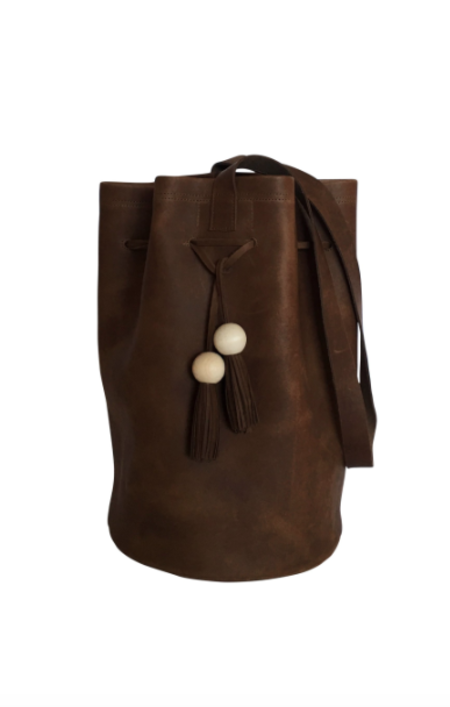 Sunday Supply Co. Grande Cinched Bucket Tote - Chocolate
