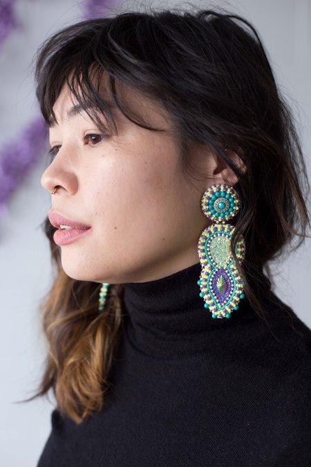 Deliaestelle Designs Tropical Paradise Earrings - Neon Yellow
