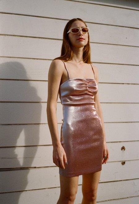 Area Cindy Ruched Mini Dress