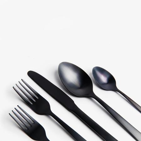 Poketo Matte Black Cutlery Set