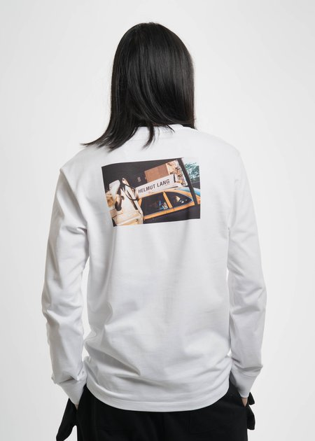 Helmut Lang White Taxi Long Sleeve T-Shirt