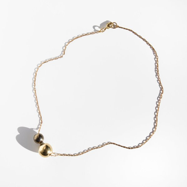 Another Feather Large Deux Pearl Choker