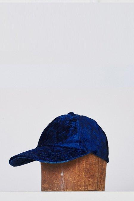 Unisex Colorant Velvet Cap - Indigo