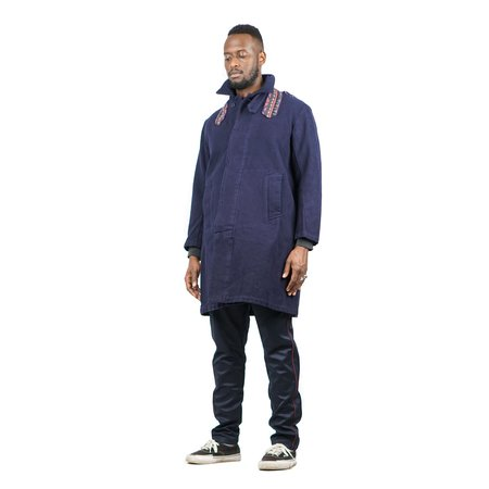 "Remi Relief COTTON MELTON EMBLEM COAT ""NAVY"""