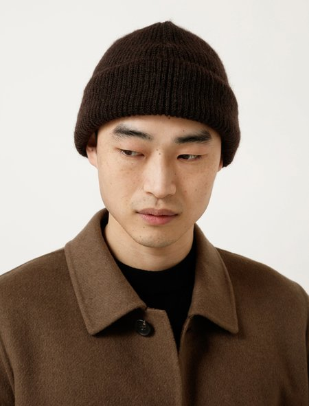 Our Legacy Knitted Hat - Brown Mohair