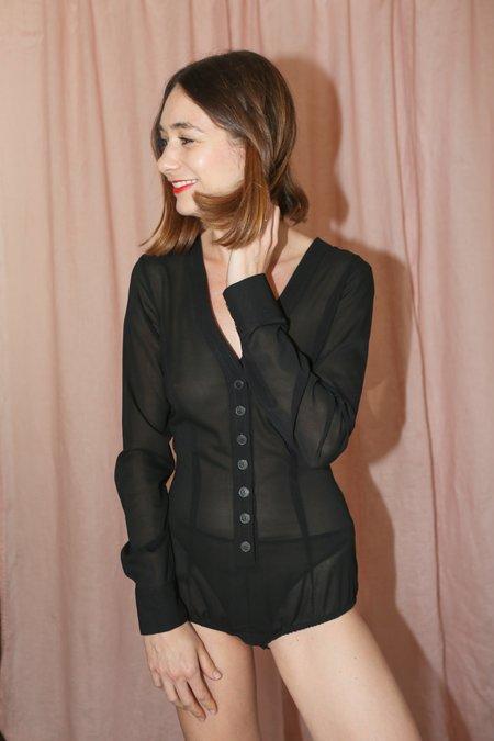 Rachel Comey Tacit Bodysuit in Black
