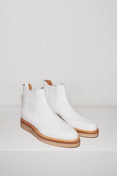 Bibliotek Smooth Leather Wingtip Boot - White