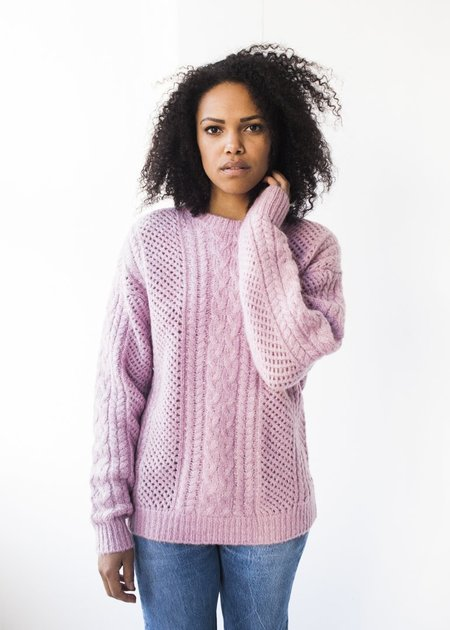 Line Knitwear Cabled Tunic in English Rose