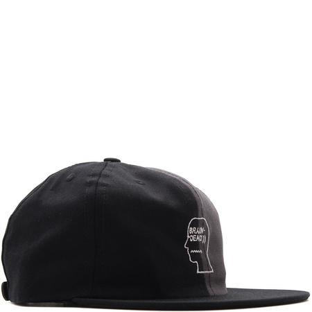 BRAIN DEAD SPLIT COLOR HAT BLACK / GREY