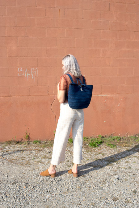 The Northern Market Indigo Backpack