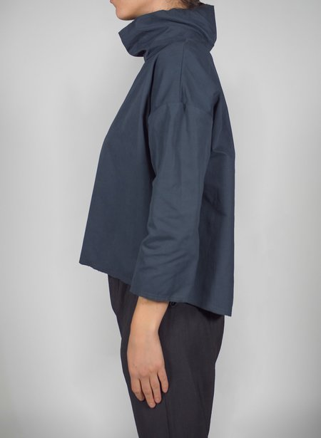 Priory Shop Que Anorak Shirt - Blue/Black