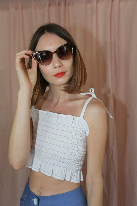 Kate Young For Tura Cecilia Sunglasses in Tortoise