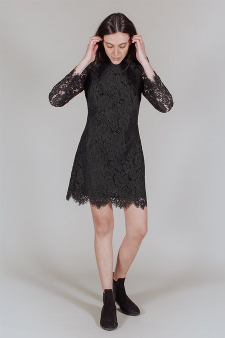 Ganni Jerome Lace Dress in Black