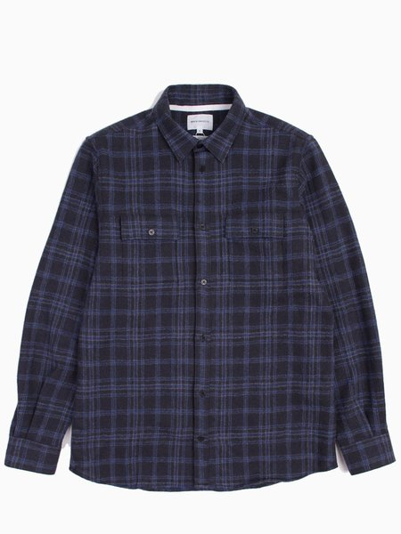 Norse Projects Villads - Heavy Brushed Check Indigo