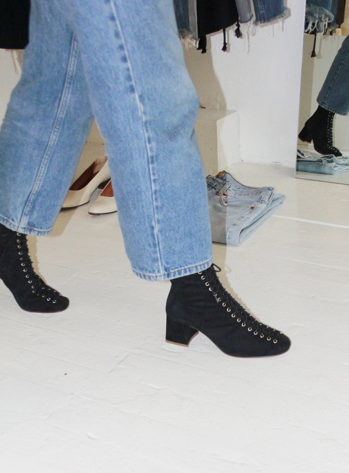 By Far Becca Boot - Black Suede | Garmentory