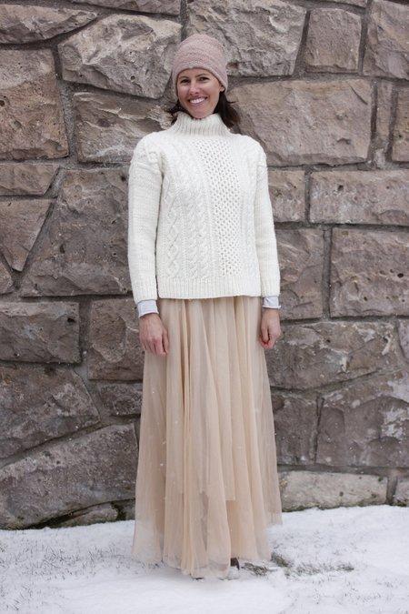 Louiza Babouryan Chiffon Skirt