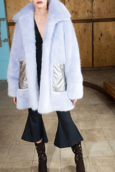 NIKA TANG Lavender Kiana Fur Coat