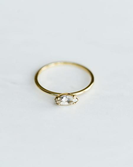 Bing Bang NYC East West Marquis Ring - Yellow Gold