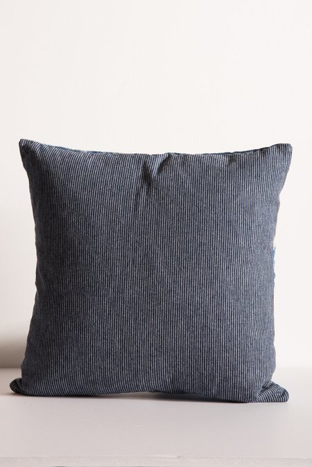 Samantha Verrone Boro Patch Pillow in Antique Linen