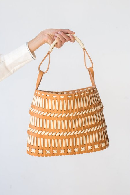 Hatori Vegetable Tanned Leather Basket in Natural
