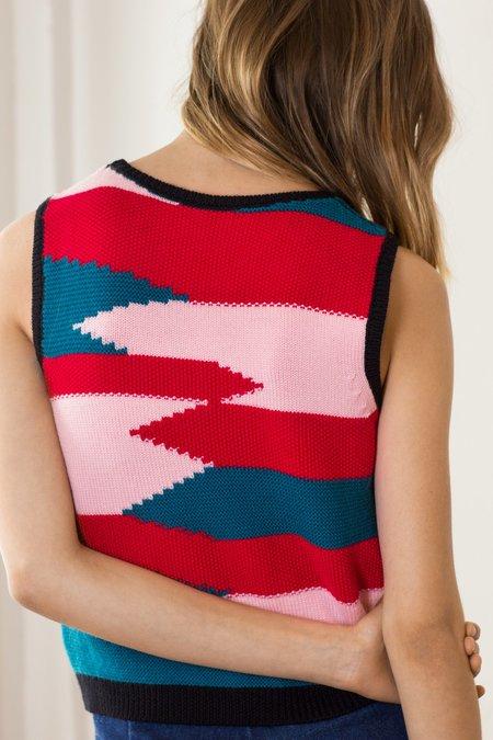 Mila Zovko Nives Knitted Vest - Pink