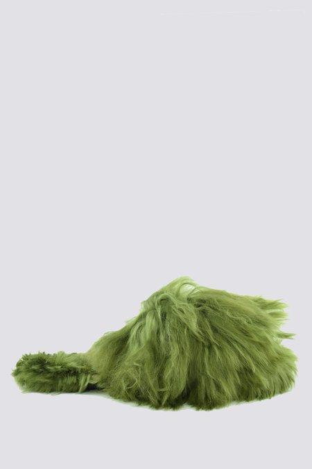Ariana Bohling Alpaca Suri Slipper - Green