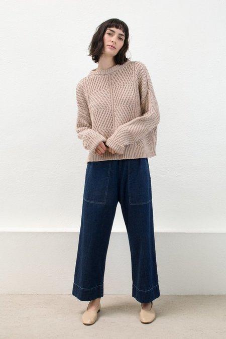 Micaela Greg Blush Bevel Sweater