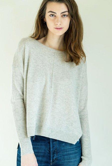 Nili Lotan Sivan Sweater Sweater in Light Grey