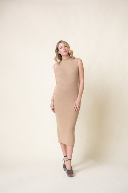 Ribbed cashmere dress