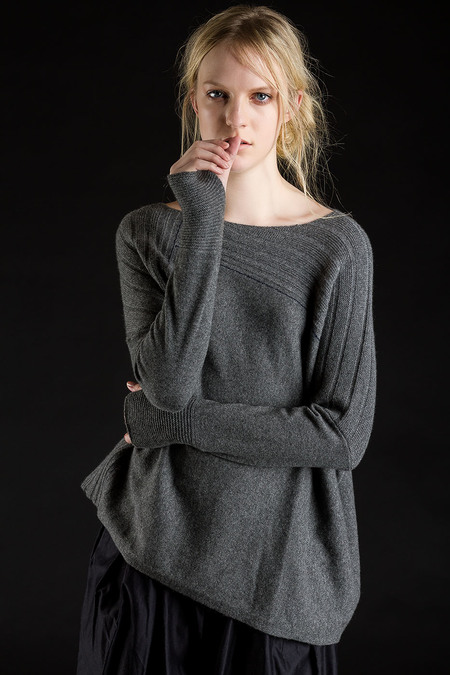 Paychi Guh Cashmere Mixed Panel Pullover - Thunder