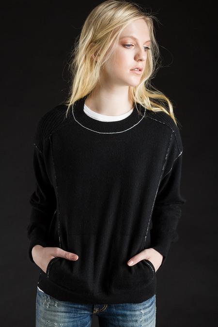 Paychi Guh Cashmere Boyfriend Pullover - Black