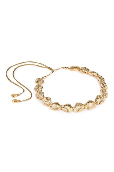 Tohum Concha Beach Necklace 1 - Gold