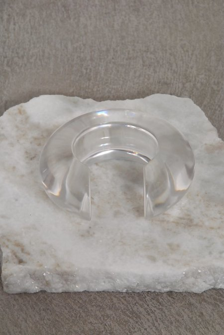 Lizzie Fortunato Arc Cuff In Clear