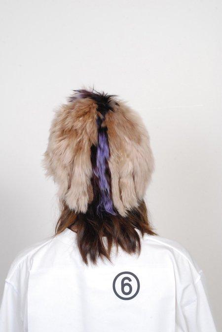 Rachel Comey Mikal Beanie - Camel/Purple