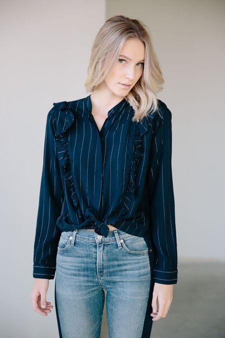 Rails Piper Tie Front Shirt