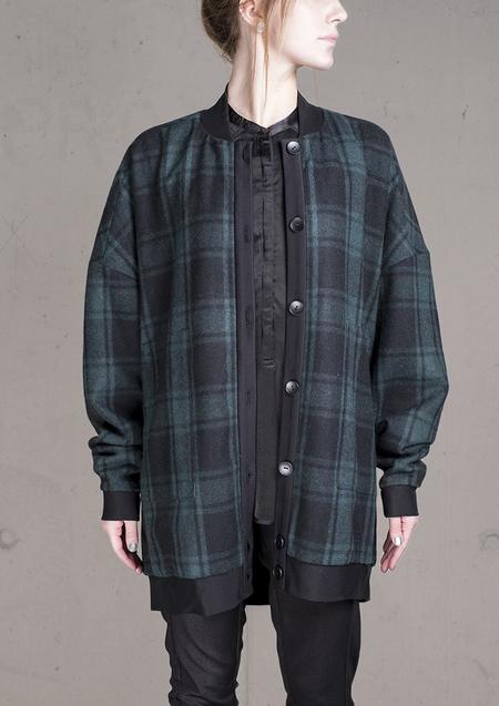 Unisex Berenik Pilot Jacket Wool Blend - Flannel Check