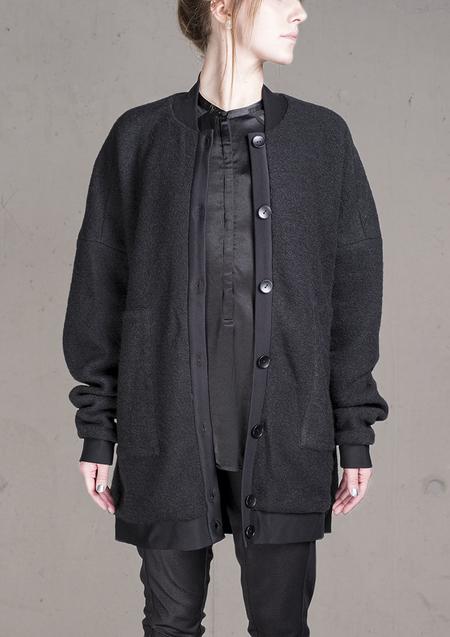 Unisex Berenik Pilot Jacket Wool Blend - Black