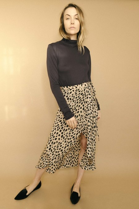 Maria Stanley The Lyons Wrap Skirt - Animal