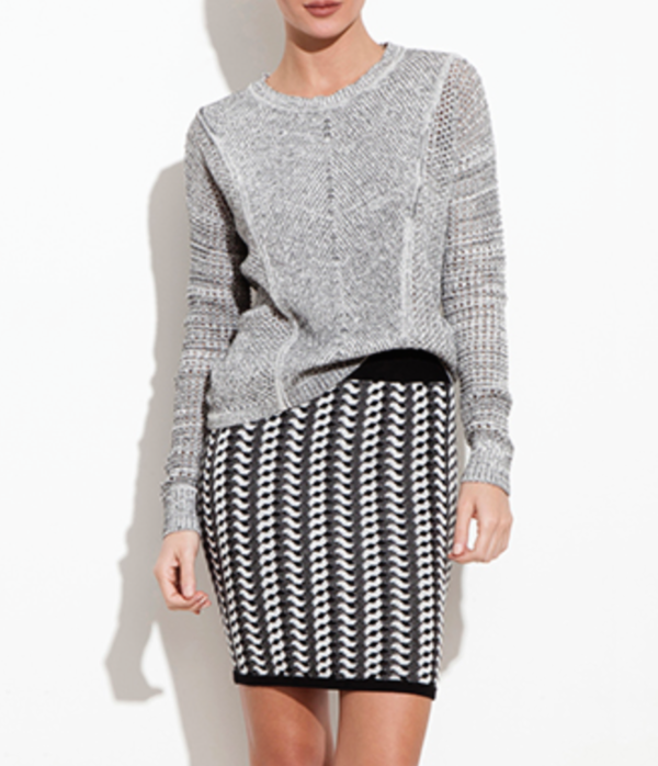 Theonne knit pencil skirt