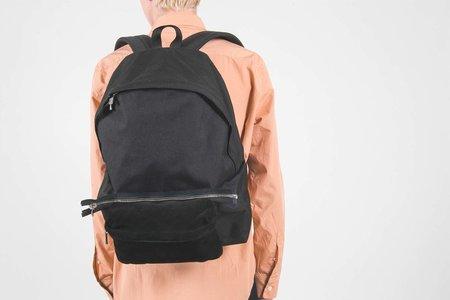 Hender Scheme Backpack w/ Detachable Pig Suede Pouch - Black
