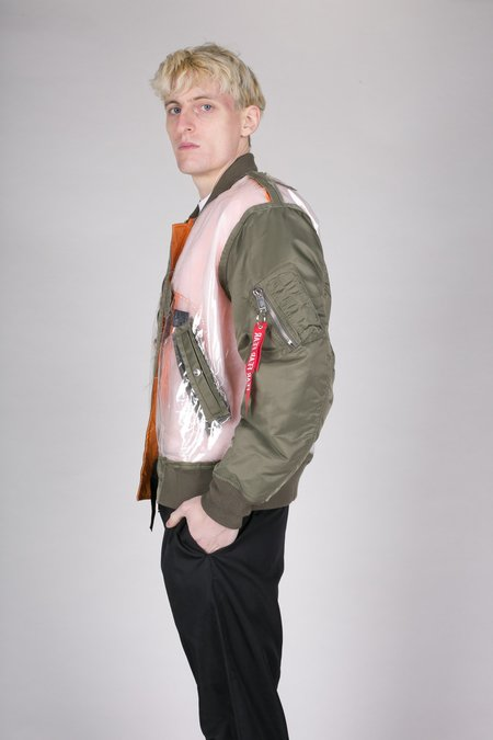 Christian Dada Green Detached Bomber Jacket