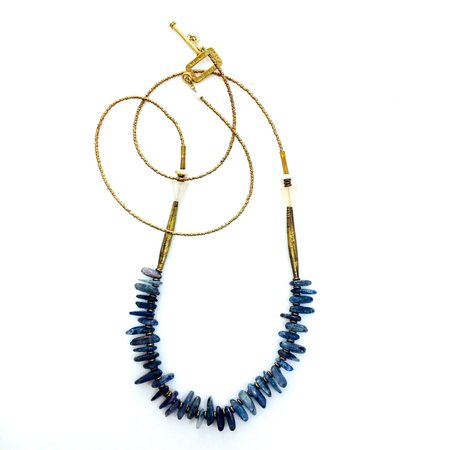 Beach Bones Kyanite Strand necklace